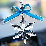 leoye Colgante de cristal de copo de nieve para coche, decoración de la suerte, adorno para colgar en el espejo retrovisor accesorios para auto interior de MirPendaye (color : paz)
