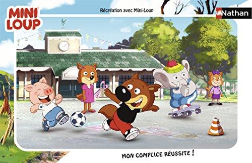 Nathan–Puzzle con Marco de recreo Mini-Loup 15Piezas, 86128