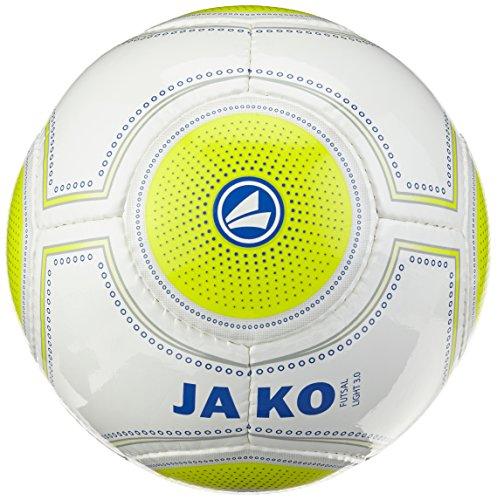 JAKO Ball Futsal Light 3.0, Weiß/lemon/Marine, 4