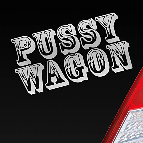 Auto Aufkleber in deiner Wunschfarbe Pussy Wagon Tuning Style Sexy Dub OEM JDM 15x6cm Autoaufkleber Sticker Folie