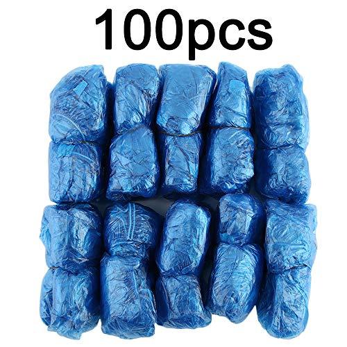 Amerryllis 100Pcs / Set Cubrezapatos Desechables de plástico Salas al Aire Libre Impermeable Rain Boot Carpet Clean Hospital Cubrezapatos Kits de Cuidado de Zapatos