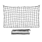 BTSKY 120x182cm to 244x366cm Heavy Duty Bungee Cargo Net with 16 Metal D Clip Carabiners and Tote - Large...