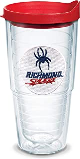 Tervis 1135971 Richmond Spiders Logo Tumbler with Emblem and Red Lid, Tritan, Clear