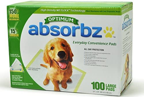 Absorbz Optimum Training Pads for Dogs, 100 ct....