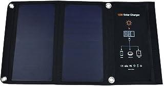 Paneles solares doble USB portátil plegable poder Banco 15W 2500mA pico actual impermeable cargador solar para teléfonos móviles