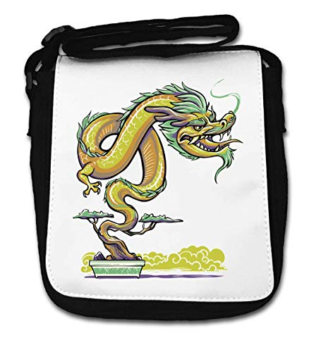 Bonzai Tree Chinese Dragon Small Shoulder Bag