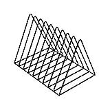 Portariviste, organizer per fascicolazione di file in ferro, organizer per fascicolazione da tavolo, triangoli per arredamento da scaffale per ufficio in casa, supporto per libri da scrivania