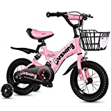Xiaoping Vélo 2-3-4-6-7 for Enfants Ans Fille de garçon Bicyclette 12-16 Pouces Enfants vélo (Size : 14in)