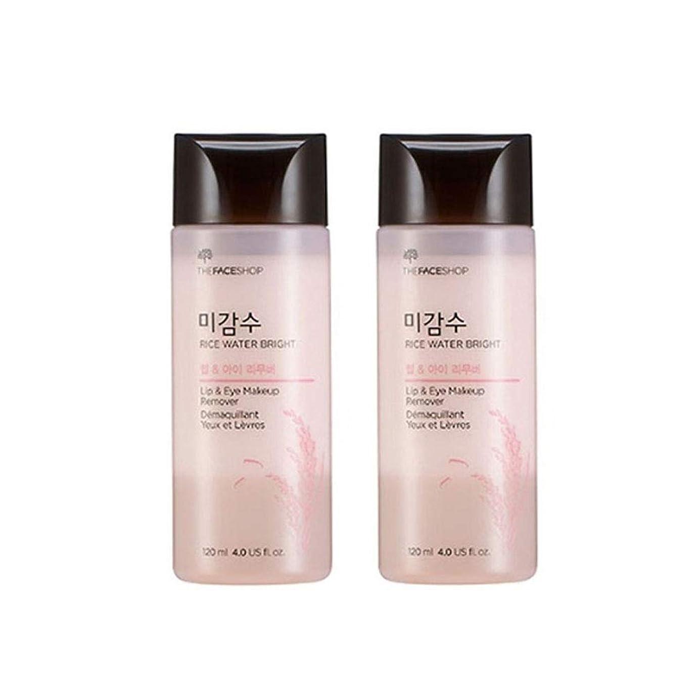 誤解する農業のアルプスザ?フェイスショップ米感水ブライトリップ&アイリムーバー120ml x 2本セット韓国コスメ、The Face Shop Rice Water Bright Lip&Eye Remover 120ml x 2ea Set Korean Cosmetics [並行輸入品]