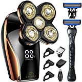 Head Shavers for Men,OriHea Electric Razor for Men Head Shaver with Extra Razor Handle , Electric Shaver 5D Floating with USB Rechargeable, Professional Waterproof with LED Display, Faster-Charging