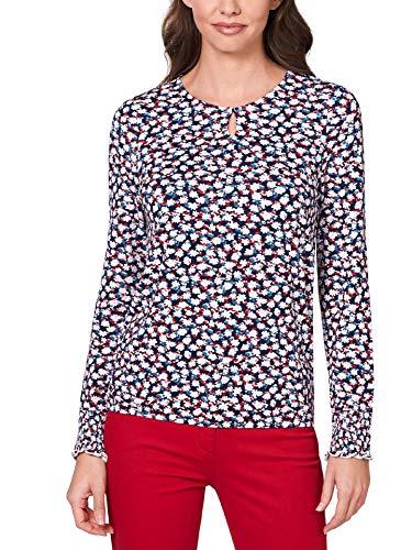 Walbusch Damen Blouson Shirt Blütentraum gemustert Marine 48