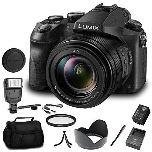 Panasonic Lumix DMC-FZ2500 Digital Camera (DMC-FZ2500) - Bundle - with Digital Flash + Soft Bag + 12 Inch Flexible Tripod + Cleaning Set + 67mm UV Filter