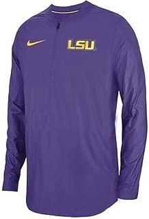 Nike Men's LSU Tigers Lockdown Quarter-Zip Pullover Performance Jacket Purple Size Medium