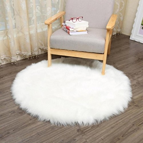 Tapis / Assise chaude et douce en laine artificielle de mouton Squarex