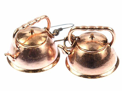 Caldera de te de cobre pendientes Miniblings caldera olla de cobre caldera de te