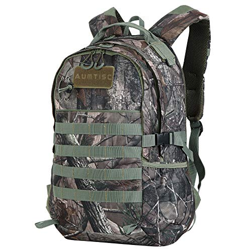 Hunting-Backpack Outdoor Sports-Daypack Hiking-Bag – Travel Packs Durable Camping Climbing Green (B-type 30L)