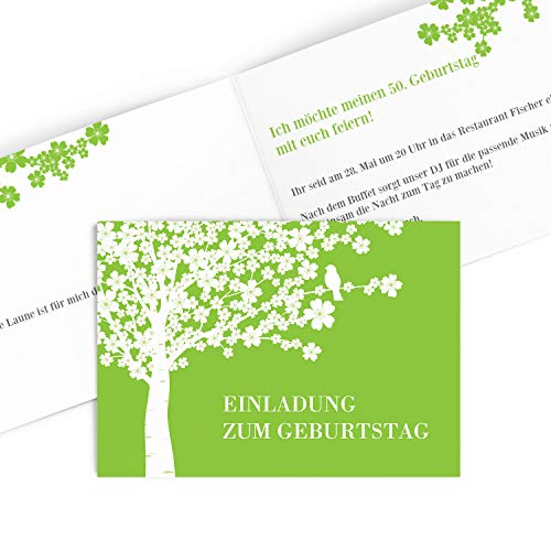 Hoogwaardige uitnodigingskaarten voor verjaardag (1 – 99 jaar), designs naar keuze, verjaardagsuitnodiging met druk van je eigen teksten,