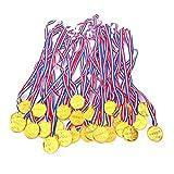 JZK 30 x Plastico medallas de Oro Ganador con Cintas para niños premios de Juegos de Fiesta Bolsa de cumpleaños para niños Rellenos de Fiesta favorece los Juguetes medallas de Deportes para niños