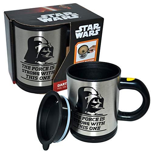 Preis am Stiel Selbstumrührender Becher - Star Wars ''The Force'' | Kaffeetasse | Kakaobecher | Teetasse | Becher Selbstumrührend | Kaffeebecher