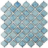 SomerTile FKOLTR33 Tinge Marine Porcelain Floor and Wall Tile, 12.375' x 12.5', Blue