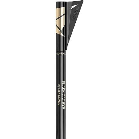 L'Oréal Paris Superliner Flash Cat Eye, Eyeliner Waterproof a Lunga Tenuta, Con Ala Stencil, Nero, 6 g