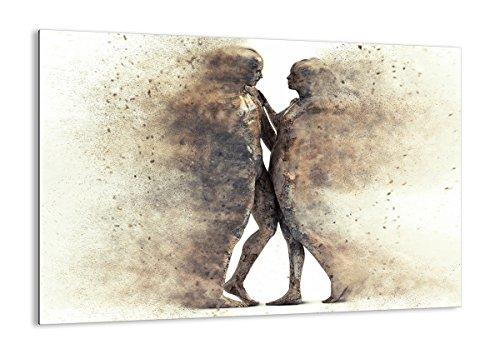 Quadro su vetro - Elemento unico - polvere donna uomo amore - 100x70cm - Pronto da appendere - Home Decor - Arte digitale - Quadri Moderni In Vetro - Stampe Da Parete - GAA100x70-3102