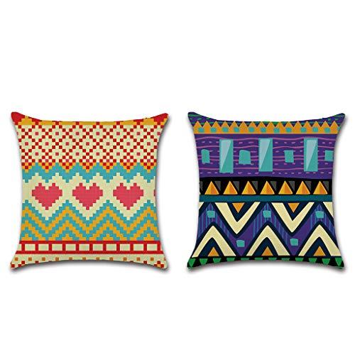 XINGYUE 2 fundas de cojín geométricas florales de 45 x 45 cm para sofá, decoración del hogar, sala de estar, dormitorio