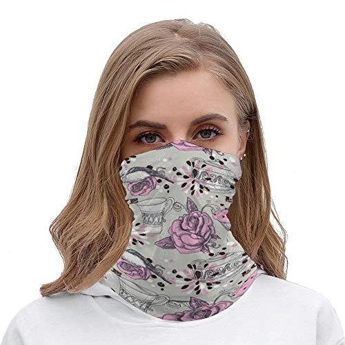 Yolocal Teekannen Gesicht Sonne Staub Hals Gaiter Magischer Schal nahtlos Bandana Outdoor Sport Tücher Staub Wind Sonnenschutz für Männer und Frauen