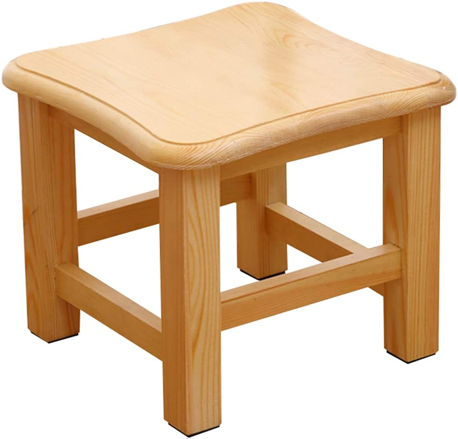 Stool  shoe bench, solid wood small square, living room low, light, formaldehyde free