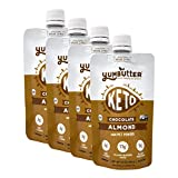 Keto Nut Butter, Chocolate Almond – Keto Snacks with MCT Oil, Fat Bomb Low Carb Snacks (3 Net Carbs), On-the-go Keto Food by Yumbutter, 3.4oz pouch, 4 pack