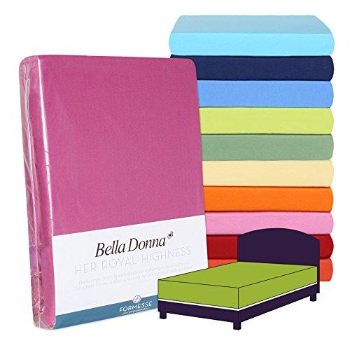 Cama con somier de Forma Esse Bella Donna sábana Bajera Alto, 97% algodón, 3% Elastano, Blanco, 140x200-160x220 cm