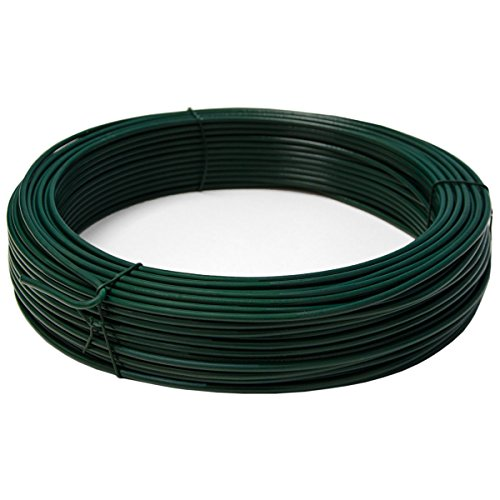 Niederberg Metall 70m Metal Wire Coated With Plastic ø3 8mm Cable Roll Covered With Pvc Green