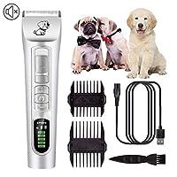 ペットのグルーミングキット犬グルーミングクリッパー低ノイズコードレスプロのヘアクリッパー電気トリマーバリカンは、犬猫ペットのために設定します。