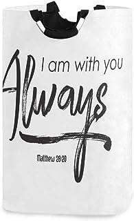 CaTaKu Panier à linge avec inscription « I am Always with You » - Grande boîte de rangement imperméable et facile à transp...