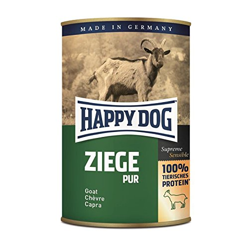 Happy Dog Ziege Pur | 12x 400g Hundenassfutter