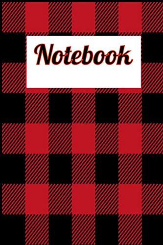 Notebook:Buffalo Plaid Black & Red 2021 Cover Blank Pages For Writing Drawing Book- Large Notebook: 6x 9 Inchs, 100 Pages Joe Biden Gift Blank Pages For Drawing