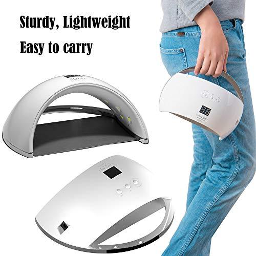Nagellamp, 48 W uv-led-nageldroger, snel uithardende lamp, robuust, licht, gemakkelijk te dragen, automatische sensor, eenvoudige reiniging, draagbare, ademende modestijl, lage warmte. wit