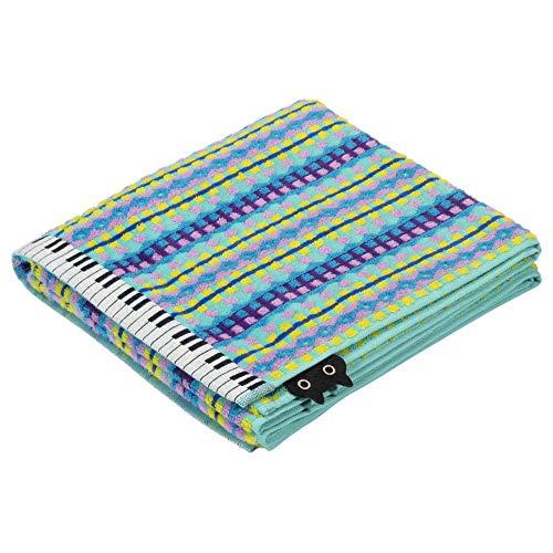 東京 西川 バスタオル バスタオル 綿100% マタノアツコ ぴこぴこピアノ MEME 鍵盤 猫 ふわふわ パイル ブルー TT10304006B