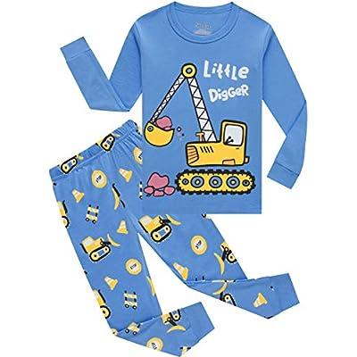 shelry Boys Rocket Pajamas Children Christmas P...