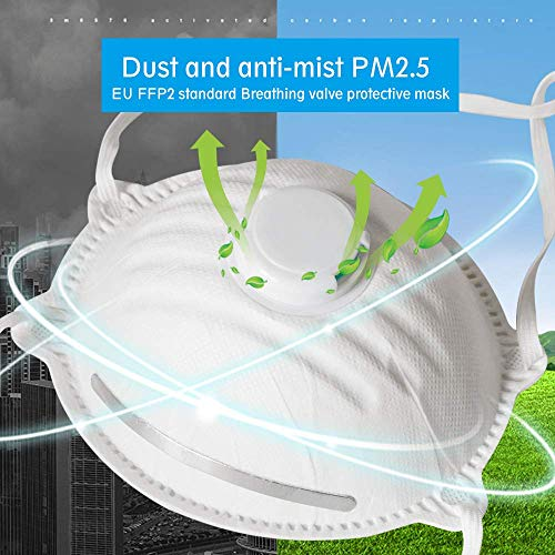 1x Atemschutzmaske FFP2 wirksamer Mundschutz Atemschutz Maske mit Ventil - 2