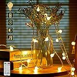 100 LED 15M Guirnalda Luces Exterior, IP65 12 Modos Cadena de Luces Impermeable para Exteriores Cable de Extensión de 10M+ 5M Control Remoto Decoraciones de Jardín, Patios, Pérgolas, Navidad