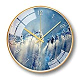 Reloj de Pared Brillante 12 Pulgadas De Metal Reloj De...