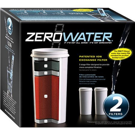 ZeroWater 2-Pack of 5 Stage Ion Exchange Replacement filters. Fits all ZeroWater Pitchers and Dispensers