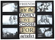 Carousel Home and Gifts Wall Hanging Black Plastic Multiframe Collage Picture Quote Photo Frame ~ Fr...