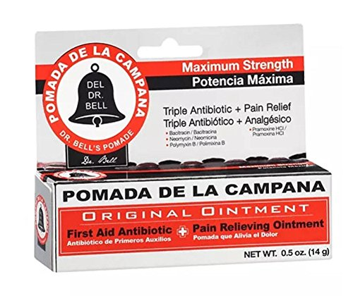 Dr. Bell's Pomade Antibiotic/Pain Relieving Ointment.5 oz Pomada de la Campana