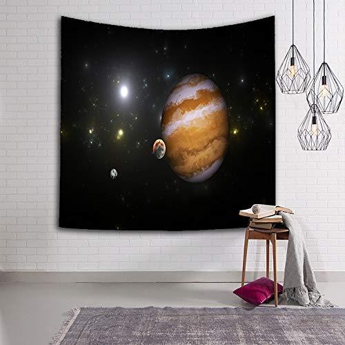 Tapiz de cielo estrellado Tela tejida Planeta Sci-Fi Galaxy Manta decorativa multicolor Manta de cielo estrellado Tapices Interior y sala de estar A22 130x150cm