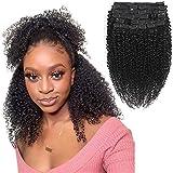 Clip di capelli ricci crespi Morichy in estensioni di capelli umani Clip di capelli ricci crespi afro da 10 pollici Ins Capelli brasiliani di Remy per donne nere 10 pezzi 120g