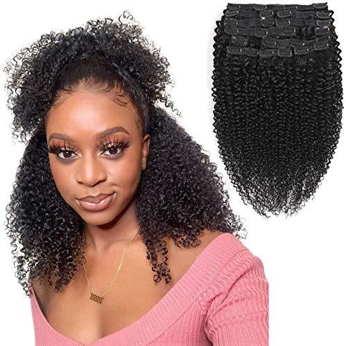 Morichy Kinky Curly Clip dans les extensions de cheveux humains 12 pouces Afro Kinky Curly Hair Clip Ins Cheveux Remy Brésiliens pour les Femmes Noires 10 Pièces