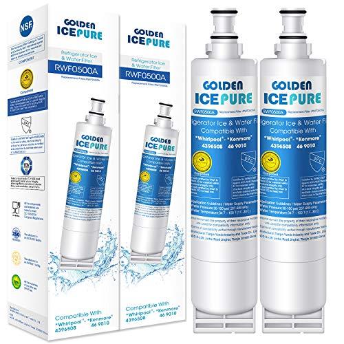 GOLDEN ICEPURE Sostituzione Filtro Acqua per Frigorifero da 2 Pezzi per Whirlpool 4396508 Maytag KitchenAid Kenmore e Hotpoint, SBS002, 481281729632, 461950271171, 46-9908, 46-9010(Con fattura)