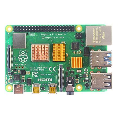 FHJZXDGHNXFGH per Raspberry Pi 4 Modello B Dissipatore di Calore 3 Pezzi Raspberry Pi 4B Rame Pad di Raffreddamento Dissipatore di Calore Radiatore Kit di Raffreddamento Dispositivo di Raffreddamento